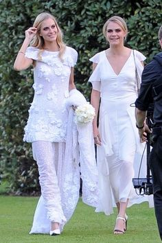 Friends and family arrive to attend Poppy Delevigne and James Cook's wedding reception held at Kensington Gardens.