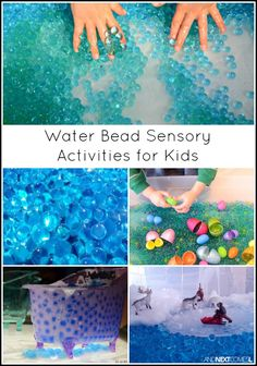 Water bead sensory activities for kids from And Next Comes L