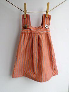 Girls Summer Dress Upcycled Men's Shirt by Jezbilinka on Etsy, $20.00