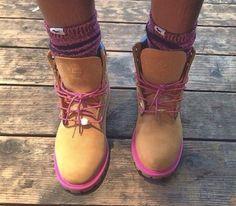 shoes tims timberland pink tan timberlands