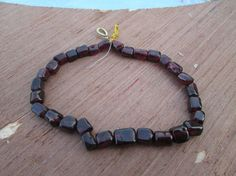 """Full strand  8"""" inches , Red  Garnet gemstone  briolettes  beads(D2775), 100% Natural by JaiVyavsayBeads on Etsy"""