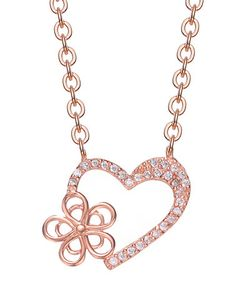 Look what I found on #zulily! Gem & Rose Sterling Silver Heart Pavé Pendant Necklace by Genevive #zulilyfinds