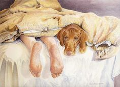 Vizsla Feet Limited Edition Print