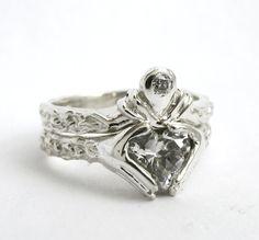 Claddagh Wedding Set - Engagement Ring and Wedding Band - Rickson