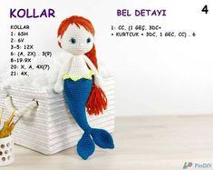 DENİZKIZI Crochet Dolls, Crochet Hats, Amigurumi For Beginners, Crochet Bunny Pattern, Bead Crochet Rope, Booties Crochet, Knitted Animals, Amigurumi Doll, Crochet Projects