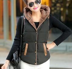 ... new Ms. coral velvet hooded vest vest female autumn and winter fashion  women vest S XXL de vest womens fiable proveedores en Shop1051100 Store.  Chalecos ... f6a669112c2a