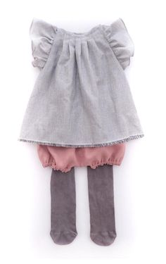 Handmade Organic Cotton Flutter Top & Linen Bloomers | moonroomkids on Etsy
