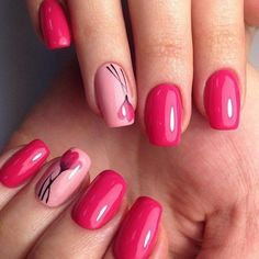 Cute And Highly Fashionable Nail Art Ideas- This post we have put together some nail art design ideas about the flower. You can refer to and choose to try and make your nails shiny. No matter the occasion, try one of the 50 cute nail designs below. Spring Nail Art, Spring Nails, Great Nails, Cute Nails, Hair And Nails, My Nails, Nails Factory, Nagellack Trends, Flower Nail Art