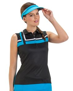 b6a5a7ca20a9fa Nancy Lopez Ladies Sleeveless Golf Shirts (Gleam) - Assorted Colors