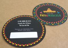 Convite Chá Bar Mexicano | Personalizzato Papelaria | Elo7