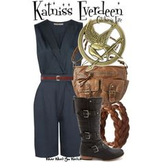 """Inspired by Jennifer Lawrence as Katniss Everdeen in the highly anticipated 2013 movie release of """"Catching Fire"""" - Shopping inf..."""