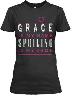 Grace Name, Grace Game!!! Black Women's T-Shirt Front