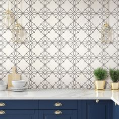 Seawater Diamond Trellis Peel and Stick Wallpaper by @YorkWall. $60 Nautical. Coastal. Navy. Black. Walls. Ceilings. #removablewallpaper #temporarywallpaper #stickonwallpaper #DIY #coastaldecor #nauticaldecor #cottagedecor #homedecorideas #buyamericanmade #kitchenwallpaper #mudroomwallpaper #bathroomwallpaper Stick On Wallpaper, Diamond Wallpaper, Temporary Wallpaper, Prepasted Wallpaper, Kitchen Wallpaper, Coastal Decor, Trellis, Navy And White, Home Improvement