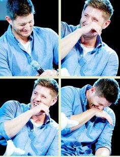 *whole-body-laughing Jensen Ackles* the most perfect & cutest thing ever! ♥◡♥ || Jensen Ackles