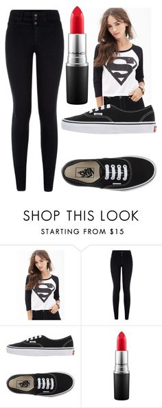 """""""Untitled #1271"""" by perbhaatkhowaja on Polyvore featuring Forever 21, Vans, MAC Cosmetics, women's clothing, women, female, woman, misses and juniors"""