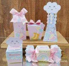 The world's catalog of creative ideas Cloud Party, Rainbow Theme, Rainbow Birthday, 1st Birthday Parties, Girl Birthday, Diy Party, Party Favors, Baby Shawer, Ideas Para Fiestas