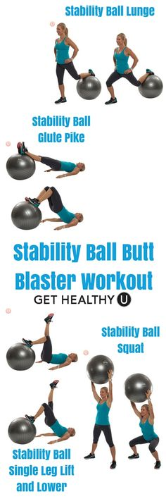 This stability ball butt blaster workout brings a fresh take on old stand-by methods, while adding the dimension of instability into the mix. Twice through this routine and not only will your rear end be on fire, you're on your way to a perkier behind!