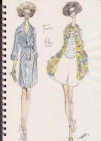 Pippa McManus Sketch Show : Fendi, S/S12, Milan