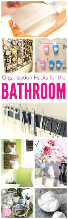 Bathroom cleaning hacks! Easy tips and ideas for cleaning out and organizing!