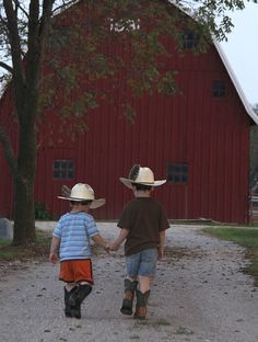 Little Brother's Going To The Barn