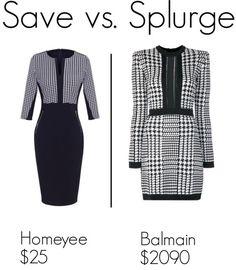 Save vs. Splurge: Balmain houndstooth dress