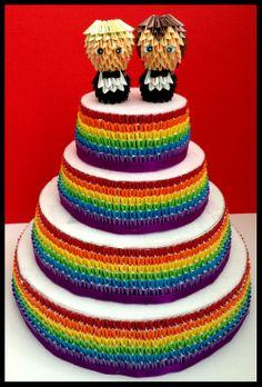 Groom & Groom  Gay Wedding Cake Toppers  Gay Pride Wedding  LGBT www.memyselfandte.com