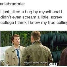 I'm gonna be a hunter!