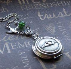 So pretty.  Silver Claddagh Locket Necklace Enchanted by TheEnchantedLocket, $32.00