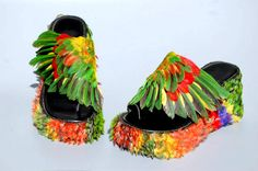 Here's a pair by Emily Valentine Bullock that you could actually make (if you wanted to, that is....)