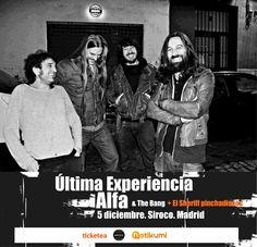 Concierto de Última Experiencia   + Alfa en Madrid