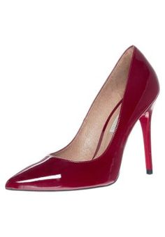 Designer Clothes, Shoes & Bags for Women High Heel Pumps, Red High Heel Shoes, Stiletto Pumps, Pointed Toe Pumps, Red Shoes, Black Heels, Pumps Heels, Buffalo Pumps, Red Patent Leather Pumps