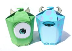 Monsters Inc  Inspired Mike and Sulley LARGE Gift Box by Shnookers, $8.00