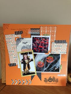 Stampin up Halloween layout!
