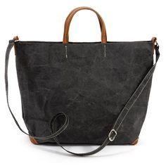 handgenähte schwarz Papierhandtasche von Uashmama - Alle Bag aus Italien - Gefunden bei #KONTOR1710