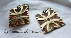 Video Tutorial, Easy Earrings with @Sizzix and @Vintaj Natural Brass Co