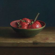 Henk Heimantel Fresh tomatoes with knife Still Life 2, Still Life Fruit, Oil Painting Materials, Paintings I Love, Oil Paintings, Watercolor Paintings, Fruit Painting, European Paintings, Dutch Painters