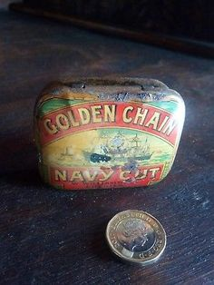 Tobacco-tin-Golden-chain-navy-cut-Williams-Chester