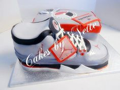 3-D Classic Jordan Shoe Cake and Shoebox, Cakes By Nette