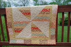 Spun Sugar Quilts: Whimsy Kite: Pinwheel Baby Bonus Quilt Tutorial