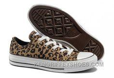 60ff1c562b68 Brown CONVERSE All Star Leopard Print Rock N Roll Canvas Women Shoes NkY2k
