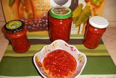 Sos rosu usturoiat Ketchup, Caviar, Food Videos, Gem, Pasta, Fish, Recipes, Sauces, Canning