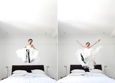 Wedding photographer Christine Meintjies photographed on her wedding day by Julie Lim - so joyous!