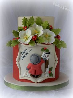 'Dear Santa' Christmas Cake - by Marlene - CakeHeaven Christmas Cake Designs, Christmas Cake Decorations, Christmas Cupcakes, Holiday Cakes, Christmas Desserts, Christmas Treats, Christmas Baking, Santa Christmas, Xmas Cakes
