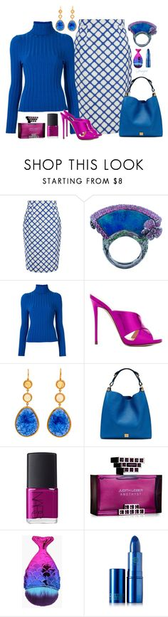"""""""Untitled #2441"""" by gemique ❤ liked on Polyvore featuring Jonathan Saunders, Wendy Yue, Gloria Coelho, Giuseppe Zanotti, Mulberry, NARS Cosmetics, Judith Leiber and Lipstick Queen"""