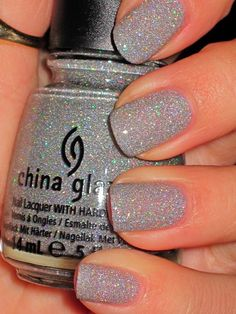 China Glaze Glistening Snow. Pretty for an accent nail