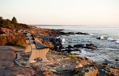 Marginal Way in Ogunquit, Maine ~ This mile-long pathway is an old Indian trail, beautifully preserved, that takes you along the elevated coastline providing a stunning panoramic view of the ocean and all its splendor. Places Around The World, Oh The Places You'll Go, Places To Visit, Around The Worlds, Ogunquit Beach, Ogunquit Maine, Vacation Places, Best Vacations, East Coast Beaches