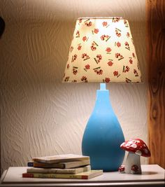 Japanese Fabric Lamp Shade Tutorial #home