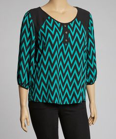 Just bought this adorable top! With store credit it didn't cost me anything! ----> Take a look at this Jade Zigzag Hi-Low Top - Plus by Spin USA: Plus-Size on @zulily today!
