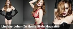 Lindsay Lohan In Home Style Magazine