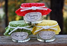 Herbal salts and sugars are time savers during the busy holidays and make welcome gifts.
